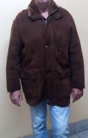 Дубленка мужская «Sherling». Цвет – коричневый. Размер ХL. Длина 91 см.